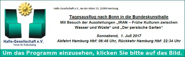 Hafis Programm Tagesausflug Bundeskunsthalle Bonn